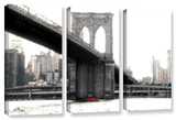 Nyc'S Brooklyn Bridge  3 Piece Gallery-Wrapped Canvas Set
