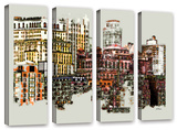 Nyc Manhattan Cluster  4 Piece Gallery-Wrapped Canvas Set