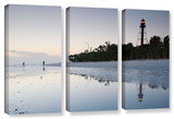 Sanibel Lighthouse   3 Piece Gallery-Wrapped Canvas Set