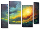 Cosmic Light  4 Piece Gallery-Wrapped Canvas Staggered Set