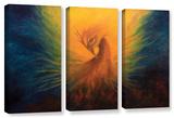 Firebird  3 Piece Gallery-Wrapped Canvas Set