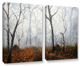 Autumn Mist  2 Piece Gallery-Wrapped Canvas Set