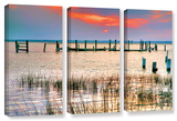 Sunset Bay Iii  3 Piece Gallery-Wrapped Canvas Set