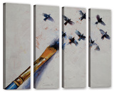 Birds  4 Piece Gallery-Wrapped Canvas Set