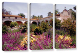 Gardens Of Mission San Juan Capistrano  3 Piece Gallery-Wrapped Canvas Set