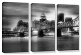 Gritty City  3 Piece Gallery-Wrapped Canvas Set