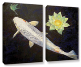 Platinum Ogon Koi  2 Piece Gallery-Wrapped Canvas Set