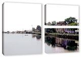 Fishing Village Nova  3 Piece Gallery-Wrapped Canvas Flag Set
