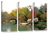 Saturday Central Park  3 Piece Gallery-Wrapped Canvas Set