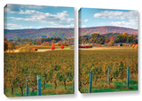 Vineyard In Autumn  2 Piece Gallery-Wrapped Canvas Set