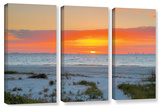 Sanibel Sunrise Iv  3 Piece Gallery-Wrapped Canvas Set