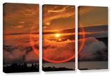 Circle Around Sun  3 Piece Gallery-Wrapped Canvas Set