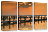 Silver And Gold  3 Piece Gallery-Wrapped Canvas Set