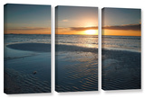 Sanibel Sunrise Ii  3 Piece Gallery-Wrapped Canvas Set