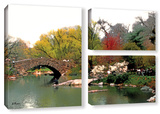 Saturday Central Park  3 Piece Gallery-Wrapped Canvas Flag Set