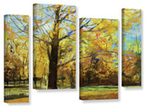 Shades Of Autumn   4 Piece Gallery-Wrapped Canvas Staggered Set