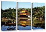 Kyoto'S Golden Pavilion  3 Piece Gallery-Wrapped Canvas Set