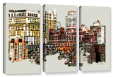 Nyc Manhattan Cluster  3 Piece Gallery-Wrapped Canvas Set