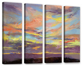 Atahualpa Sunset  4 Piece Gallery-Wrapped Canvas Set