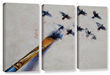 Birds  3 Piece Gallery-Wrapped Canvas Set