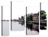 Fishing Village Nova  4 Piece Gallery-Wrapped Canvas Staggered Set