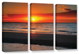 Sunrise Over Sanibel   3 Piece Gallery-Wrapped Canvas Set