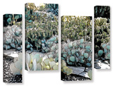 Botanical Garden  4 Piece Gallery-Wrapped Canvas Staggered Set