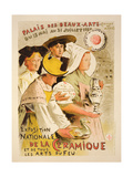 Reproduction of a Poster Advertising the 'National Exhibition of Ceramics'  1897