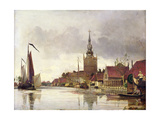 View of Overschie Near Rotterdam  1856