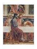 The Last Supper  Detail of Saint John  Saint Peter  Jesus and Judas  1477
