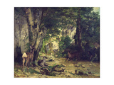 The Return of the Deer to the Stream at Plaisir-Fontaine  1866