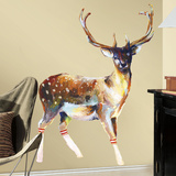 Deer With Socks Peel And Stick Giant Wall Decals