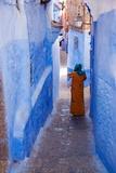 Figure in Narrow Passageway in Morocco