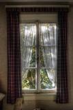 Old Window with Tartan Curtain