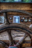 Old Boat Steering Wheel