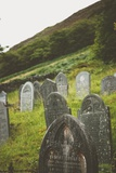 Gravestones in a Churchyard