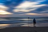 Coastal Scene with Man Papier Photo par Josh Adamski
