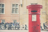 Bikes and Red Letter Box in Cambridge