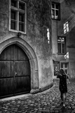 Young Woman in Old Town