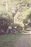 Childs Bike Against Lampost