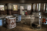 Old Mugs in Abandoned Interior