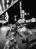 Las Vegas Chorus Girl  Kim Smith  and Her Roommate after Leaving a Casino