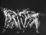 Stroboscopic Image of Dancer Ethel Butler of the Martha Graham Dance Group Performing
