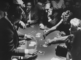 Entertainer Dean Martin Running His Own Game of Blackjack at a Casino