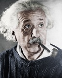 Albert Einstein Theoretical Physicist (1879-1955) Smoking a Pipe