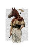 Polo Horse Portrait