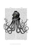 Octopus and Diving Helmet