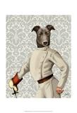 Greyhound Fencer in Cream Portrait