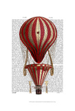 Tiered Hot Air Balloon Print Red