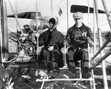 Wilbur and Katharine Wright Preparing for Flight